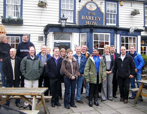 group outside the Barley Mow
