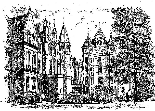 Pen & Ink Drawing of College Front